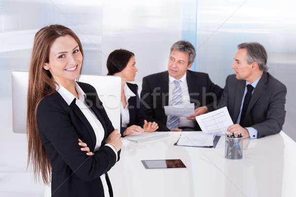 Happy Young Businesswoman Stock photo © AndreyPopov