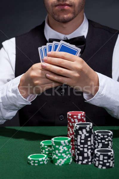 Poker player on a winning streak Stock photo © AndreyPopov