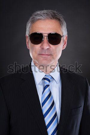 Portret mężczyzna ciało straży czarny działalności Zdjęcia stock © AndreyPopov