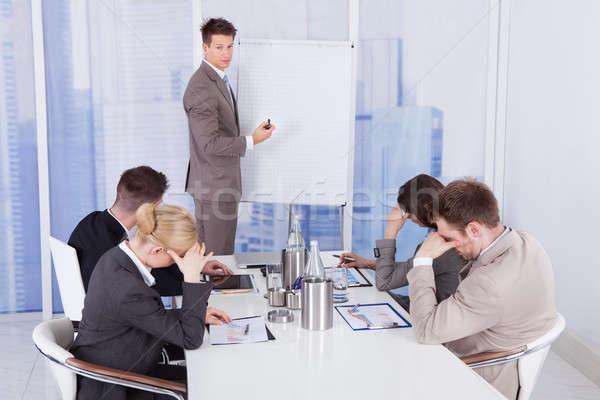 коллеги скучно бизнеса презентация бизнесмен служба Сток-фото © AndreyPopov