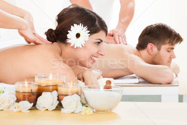пару массаж Spa портрет улыбаясь Сток-фото © AndreyPopov