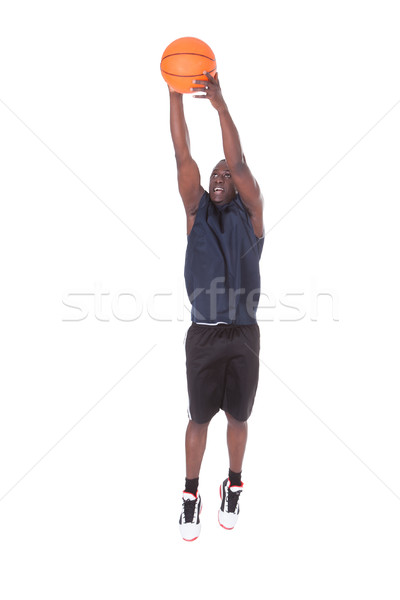 Stock photo: African Basketball Player