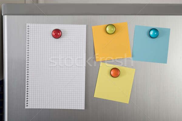 Blank Notes On Fridge Stock photo © AndreyPopov