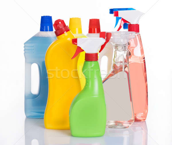 Bottles with cleaning detergents Stock photo © AndreyPopov