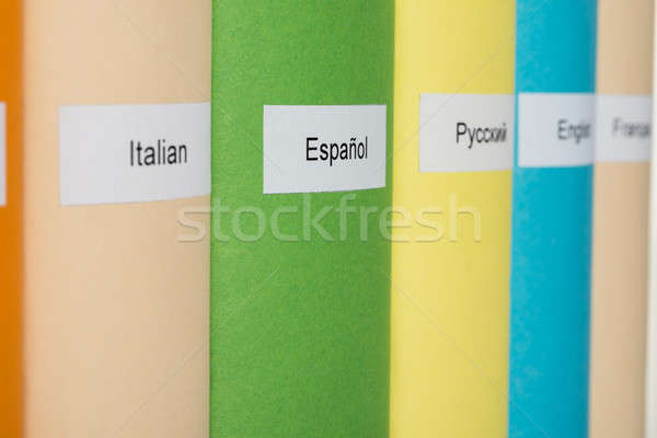 Multicolored Books Of Different Languages Stock photo © AndreyPopov