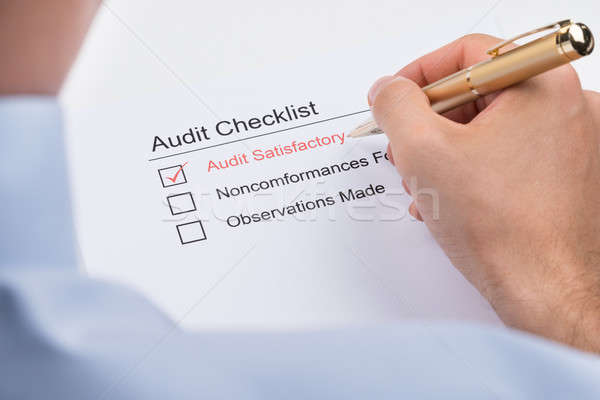 Businessperson Filling Audit Checklist Form Stock photo © AndreyPopov