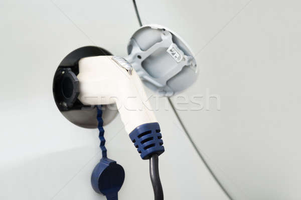 Cable Plugged Into An Electric Car Stock photo © AndreyPopov