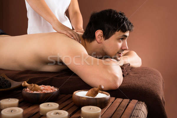 Stock photo: Man Receiving Shoulder Massage