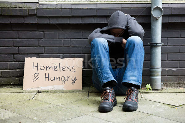 Homeless And Hungry Man Stock photo © AndreyPopov