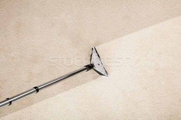 Porszívó szőnyeg közelkép fotó ház munka Stock fotó © AndreyPopov