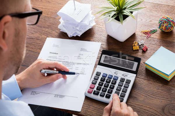 Osoby podatku księgowy doradca finansowy Kalkulator działalności Zdjęcia stock © AndreyPopov