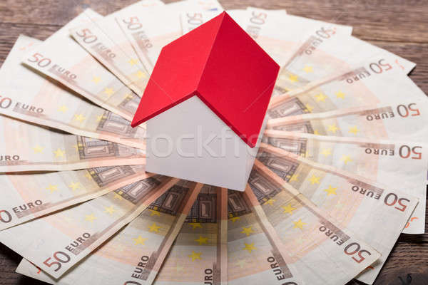 Model House On Euro Notes Stock photo © AndreyPopov