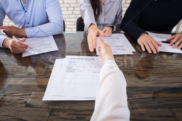 Empresarial reclutamiento primer plano solicitante oficina Foto stock © AndreyPopov