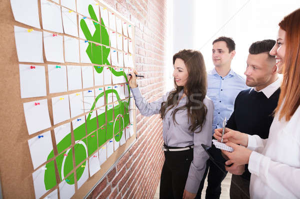 Stock photo: Business People Planning Eco Car