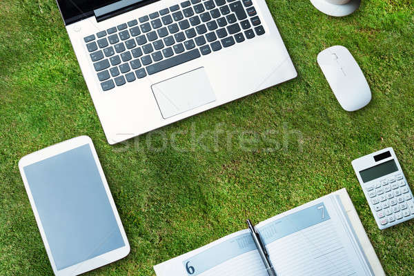 Electronic Devices With Diary Stock photo © AndreyPopov