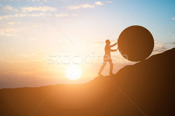 Business Man Rolling Ball Stock photo © AndreyPopov