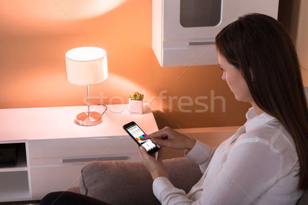 Controlling Light With Application Stock photo © AndreyPopov