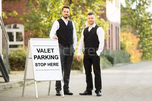 Portrait Of A Young Male Valet Stock photo © AndreyPopov