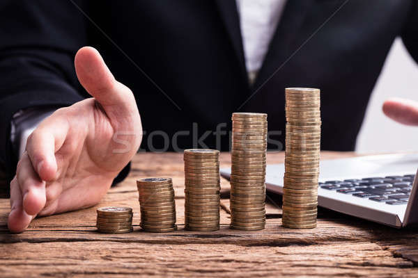 Close-up Of A Stacked Golden Coins Stock photo © AndreyPopov