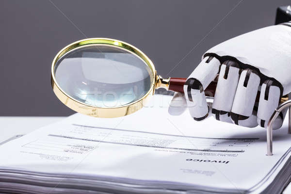 Robot loupe facture robotique Photo stock © AndreyPopov