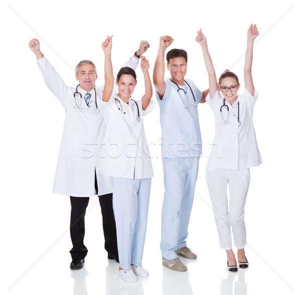 Medical team celebrating success Stock photo © AndreyPopov