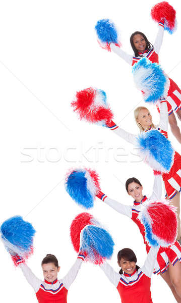 Group of young cheerleaders Stock photo © AndreyPopov