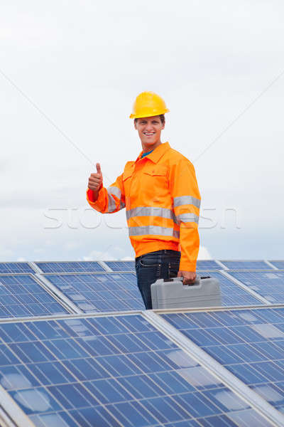 Happy Engineer With Toolkit Stock photo © AndreyPopov