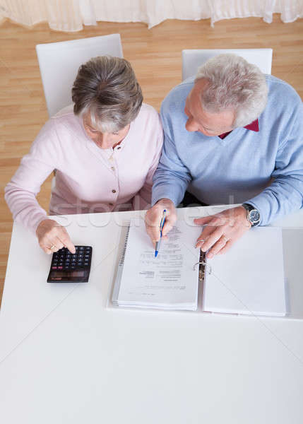 Senior Couple Calculating Budget Stock photo © AndreyPopov