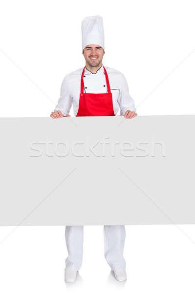 Chef uniforme vacío banner retrato Foto stock © AndreyPopov