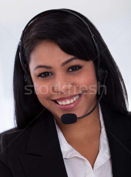 Happy Female Customer Representative Stock photo © AndreyPopov