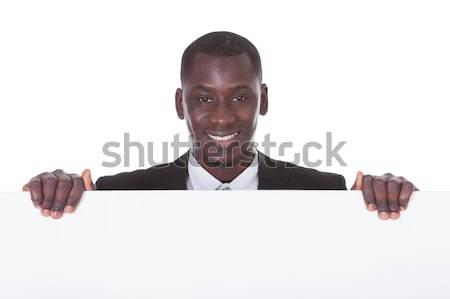 アフリカ 男 ホワイトボード 肖像 小さな ストックフォト © AndreyPopov