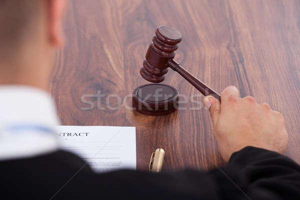 Judge Knocking Gavel Stock photo © AndreyPopov
