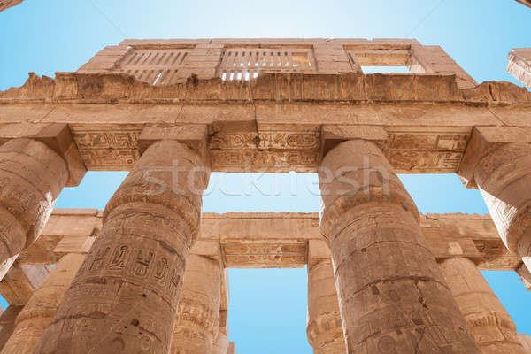 Kolommen tempel luxor Egypte Stockfoto © AndreyPopov