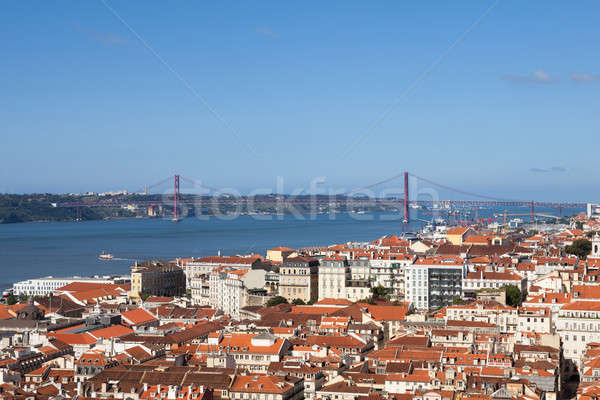 View Of Lisbon City Against Blue Sky Stock photo © AndreyPopov