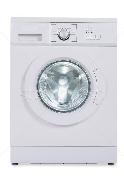 Wasmachine witte foto geïsoleerd technologie cirkel Stockfoto © AndreyPopov