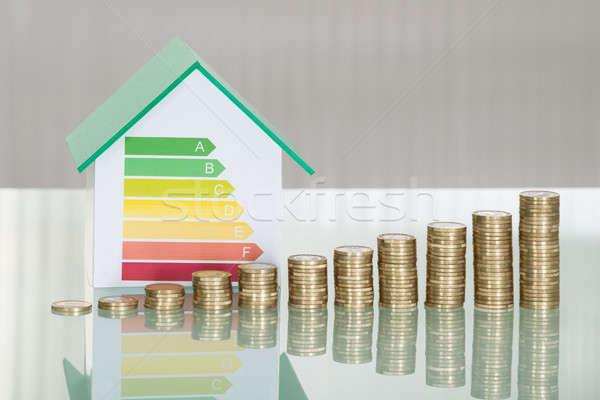 Monedas casa modelo la eficiencia energética Foto stock © AndreyPopov