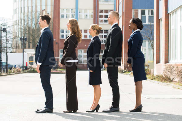 Multi-ethnic Businesspeople Standing In A Line Stock photo © AndreyPopov
