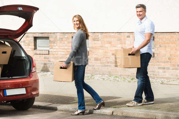 Couple Carrying Box For Putting In Car Stock photo © AndreyPopov