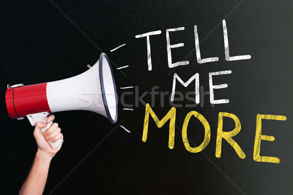 Tell Me More Announcement On Megaphone Stock photo © AndreyPopov