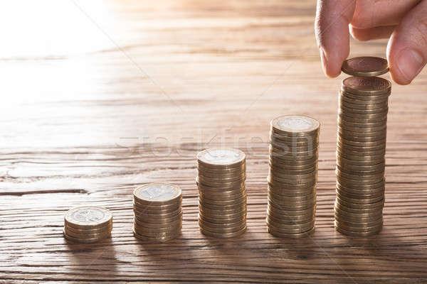 Increasing Coin Stacks Stock photo © AndreyPopov