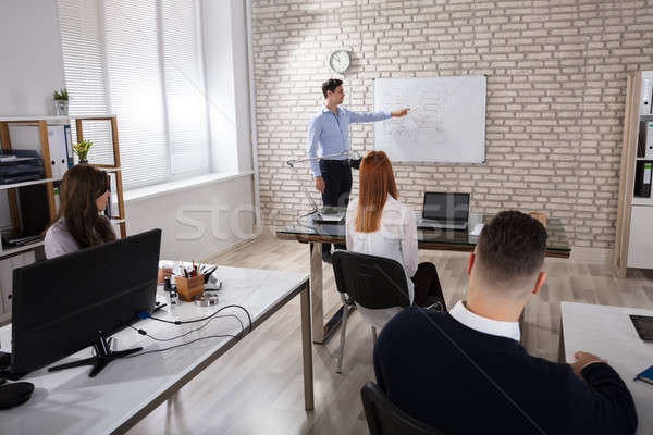 Manger Giving Presentation To Colleagues Stock photo © AndreyPopov