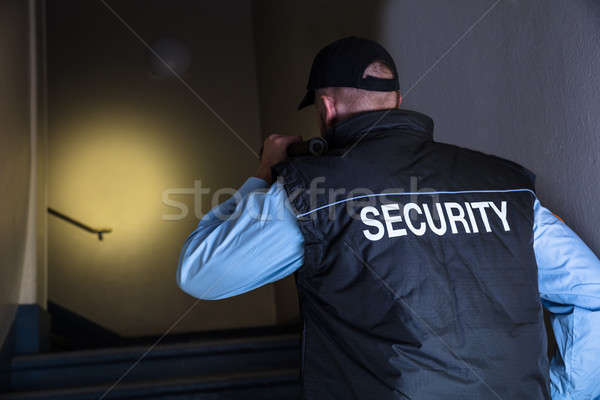 Close-up Of Male Security Officer Stock photo © AndreyPopov