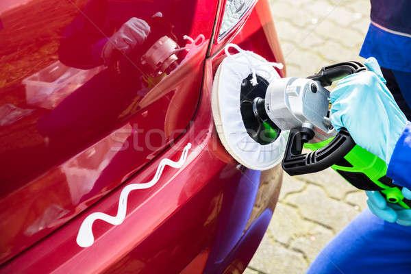 Stock fotó: Férfi · munkás · autó · közelkép · boldog · takarító