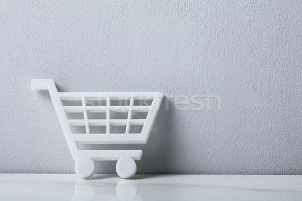 Close-up Of A White Shopping Cart Stock photo © AndreyPopov