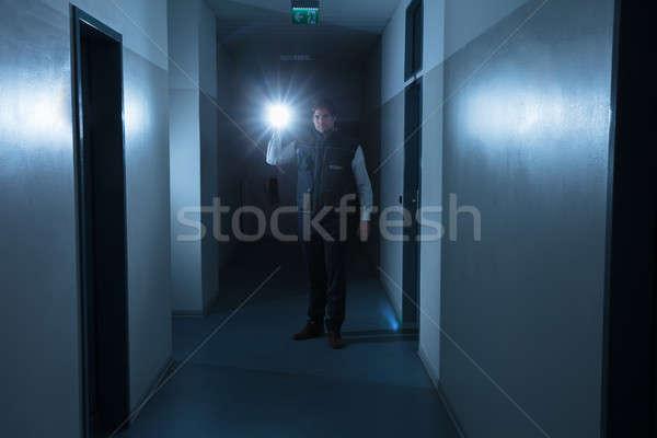 Сток-фото: охранник · мужчины · Постоянный · коридор