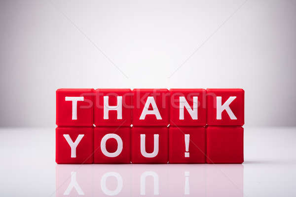 Red Cubic Blocks With Thank You Text Stock photo © AndreyPopov