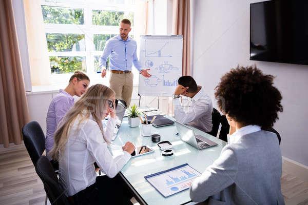 Chateado sessão escritório colega negócio Foto stock © AndreyPopov