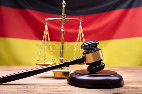 Close-up Of Gavel And Justice Scale On Desk Stock photo © AndreyPopov