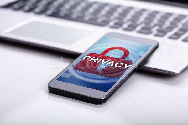 Privacy Access Login On Mobile Phone Stock photo © AndreyPopov