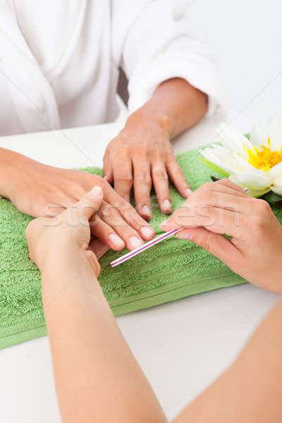 Beautician Polishing The Nails Stock photo © AndreyPopov